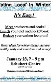 S.E.N.S. January 2020 monthly Meeting - Eating 'Local' in Winter