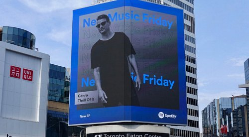 'No words to describe how much this means': Kelowna DJ delighted after appearing on Toronto billboard