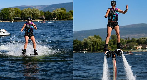 Flyboarding for the first time with Hydrofly Kelowna