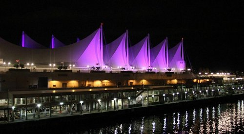 A number of BC buildings and landmarks are lighting up purple for ALS awareness